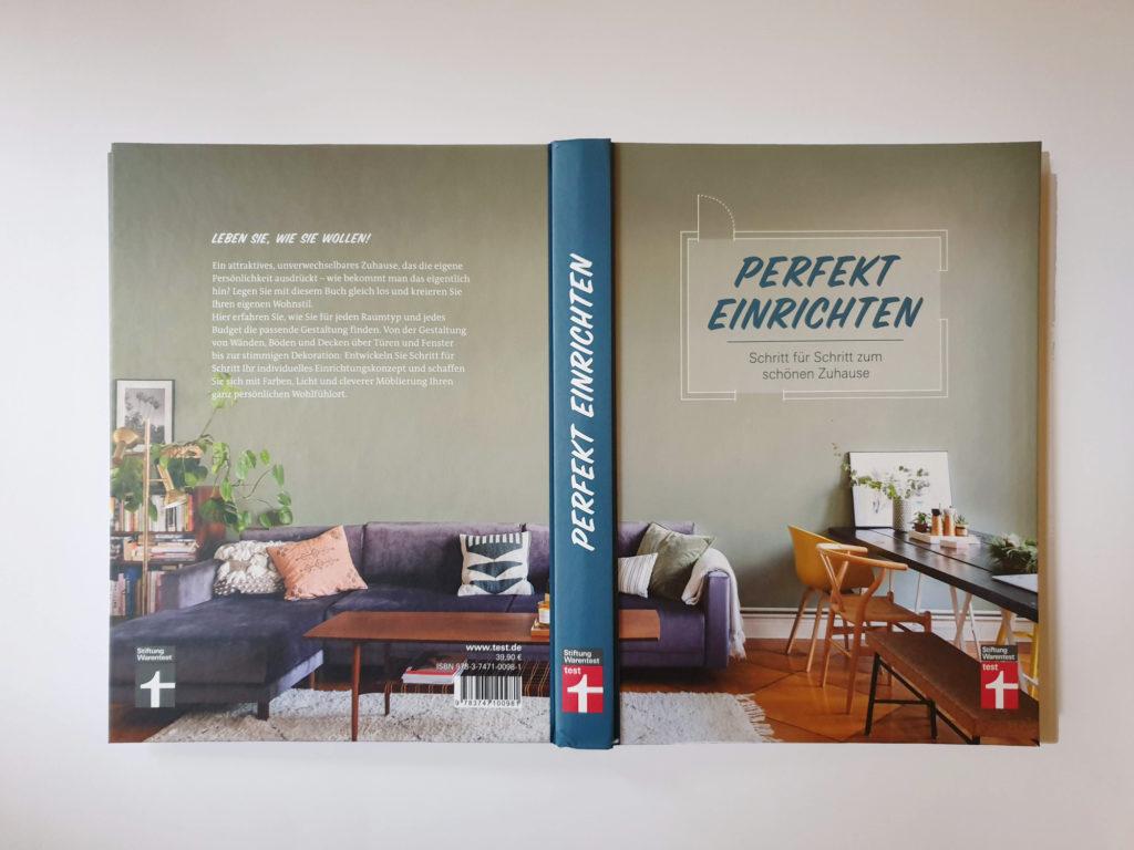 "Book Cover ""Perfekt einrichten"""